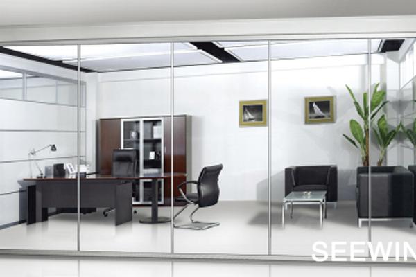 透明屏风玻璃隔断|办公家具厂