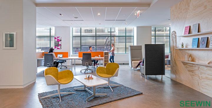 芝加哥多元办公设计欣赏 kimball办公家具展厅