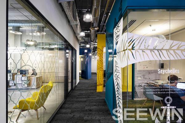涂鸦,条纹风让工业办公空间逼格更高|诗敏工业办公家