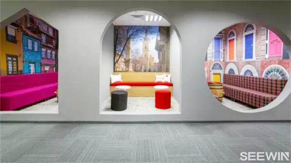 灵活,开放式办公空间设计图片