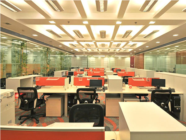 India call center, Staff area.