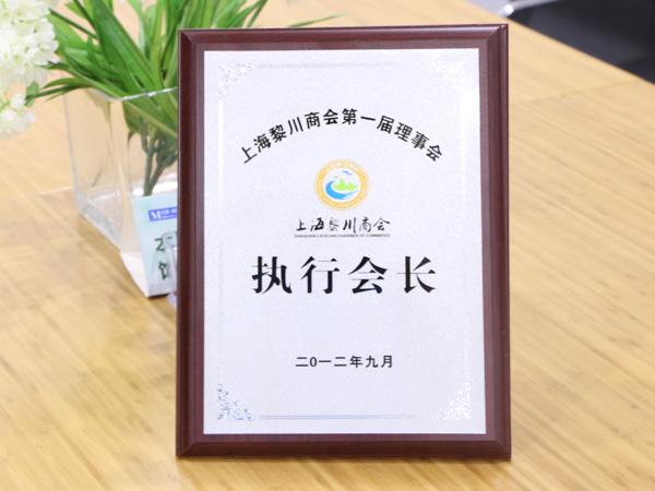 """诗敏家具荣获""""商会执行会长"""""""