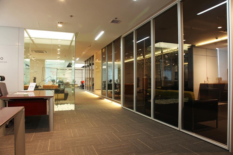 屏风隔断效果图系列讲解之双层玻璃隔断产品
