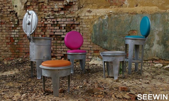 工业风 bins金属垃圾桶创意时尚家具