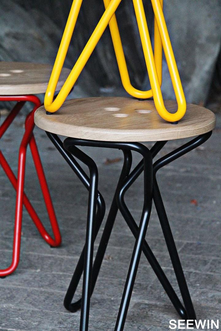 灵动办公 可以抓起的Olly Stool坐凳设计