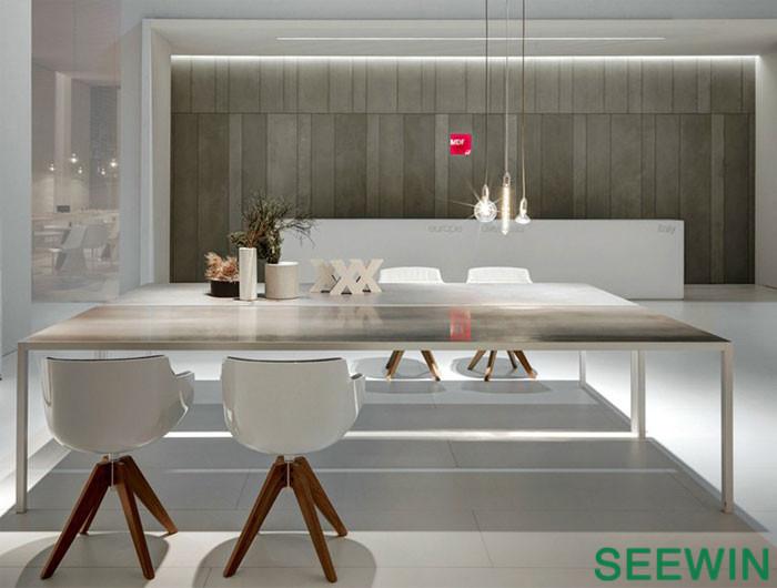 极致简约铝制长方桌设计