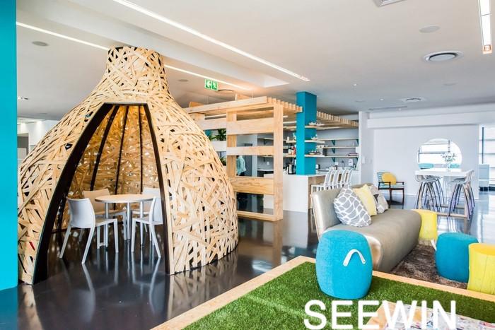 创意办公设计 南非棕色媒体