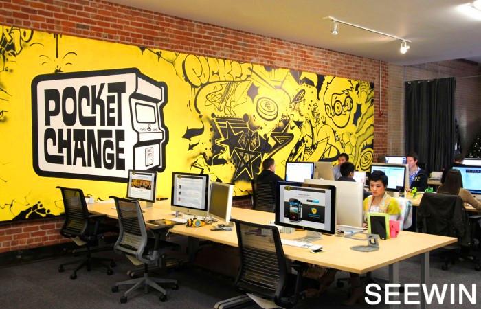 墙面上的涂鸦  旧金山办公室 设计欣赏