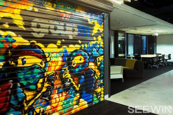 彩色涂鸦工业风,打造另类舒适办公氛围!