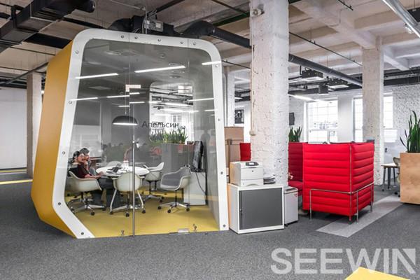 一条缎带串连办公空间,讲述办公室的故事!