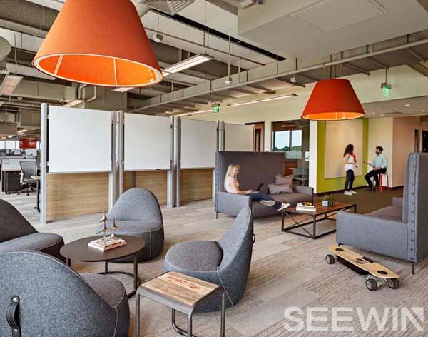 """工业风办公家具打造""""城市loft""""员工的第三空间"""