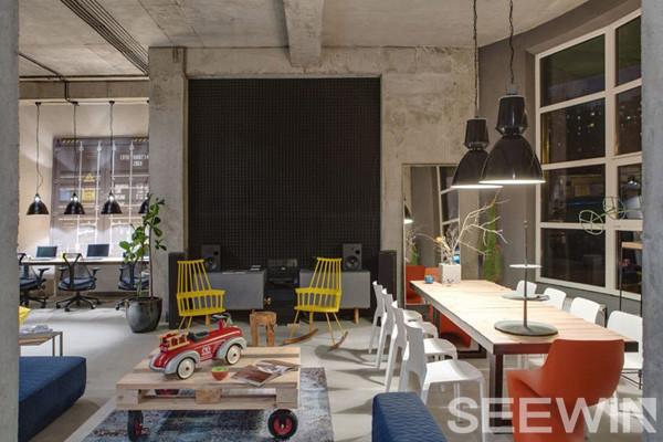 工业风办公家具打造高逼格艺术气息办公空间