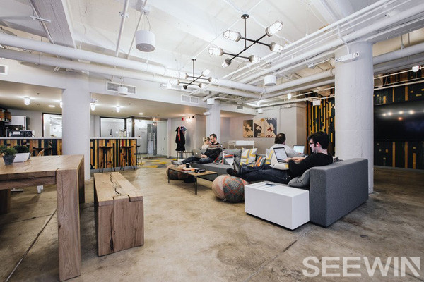 创意办公让阳光自由倾泻在联合办公空间