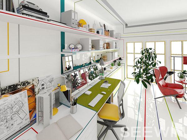 源于建筑师的设计草图的奇思妙想办公空间