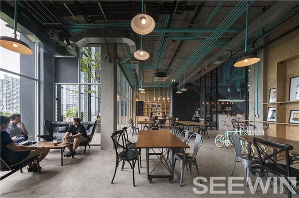灵动的重金属工业风联合办公空间
