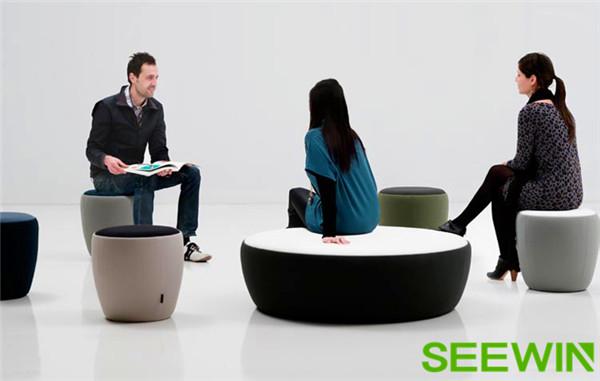 上海办公家具聊天座凳轻松打造众创空间