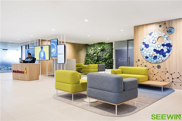 自然清新 阿斯利康悉尼办公家具设计欣赏