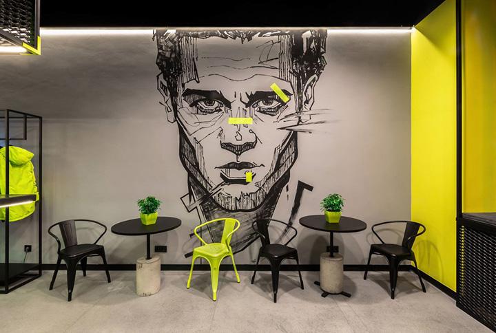 别致的乌克兰ЕБШ体育俱乐部办公家具设计分享