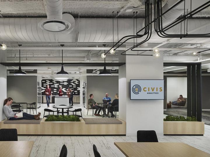 美国芝加哥总部Civis Analytics公司办公家具设计