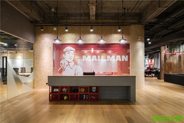 酷炫中国风 Mailman Group上海办公家具欣赏