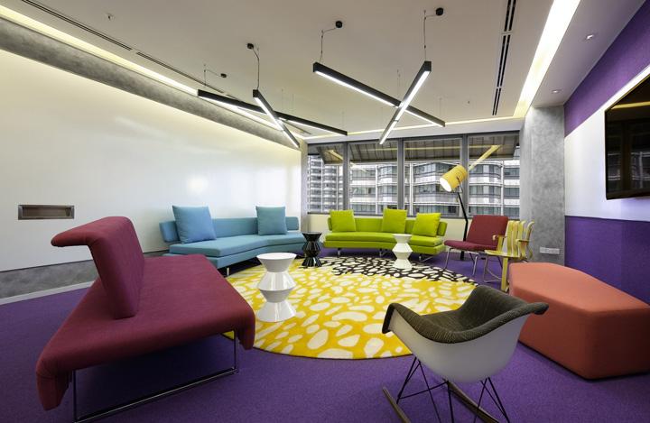 协作交流 马来西亚Maxis Berhad吉隆坡办公家具设计欣赏