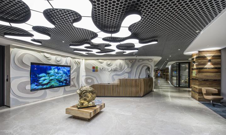 洪荒之力 孟买微软办公家具设计欣赏