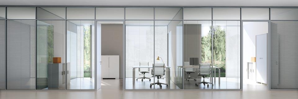 高隔间-铝合金隔断-双层玻璃隔断-板式办公室隔断-SEEWIN诗敏办公家具