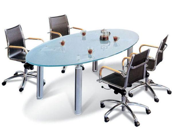 玻璃会议桌-HYZ01