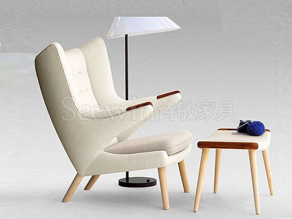 实木休闲椅-LC09