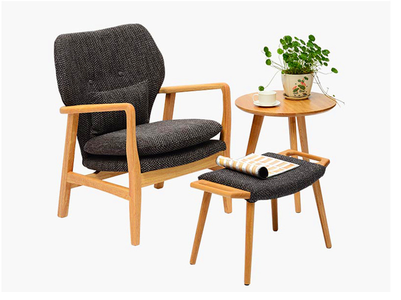 实木休闲椅-LC04