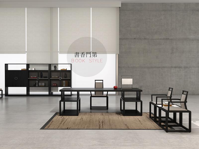 实木办公桌-01